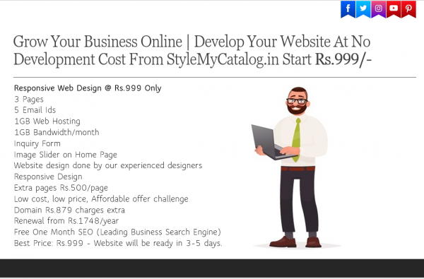 Responsive Web Design @ #Rs.999 ($14) & E-Commerce #Website + App + SSL | Starting @ ₹ 9,999/-Only‎